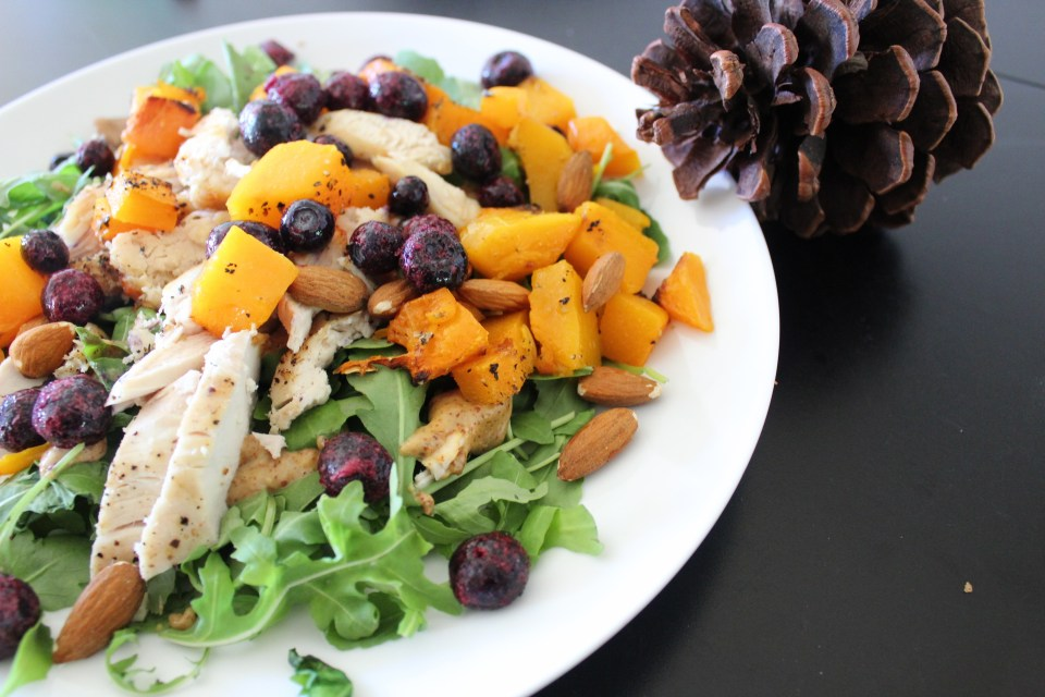 gratitude - whole30 fall chicken and butternut squash salad