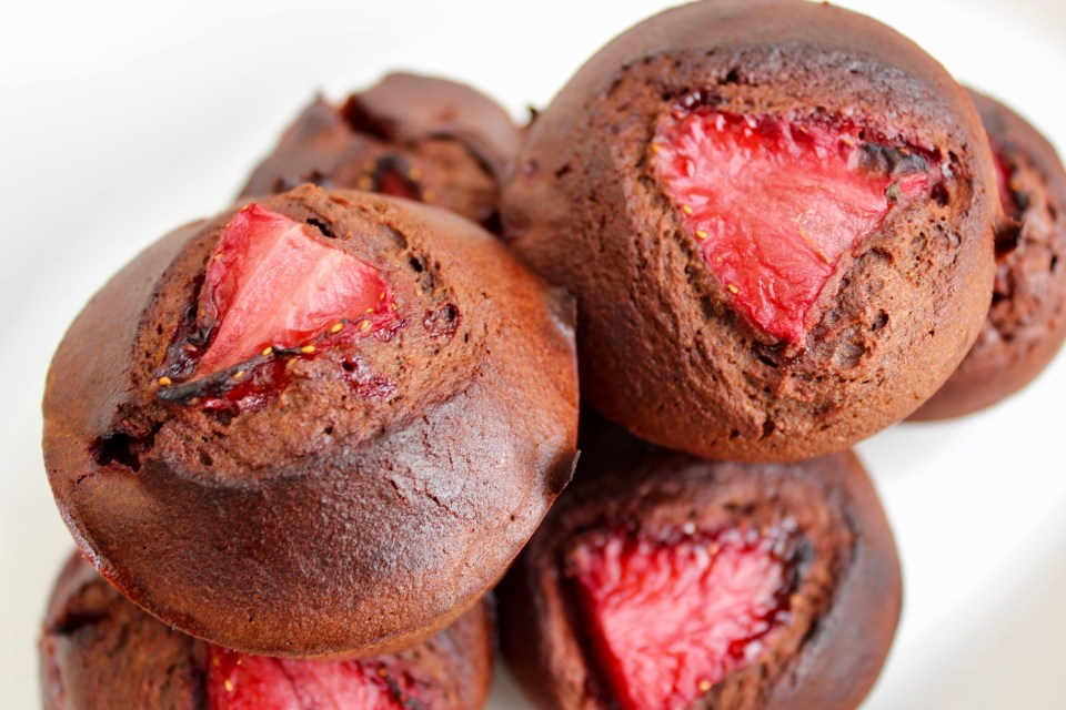 Temporal Landmarks - Paleo Chocolate Strawberry Cupcakes