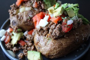 Whole30 Taco Stuffed Potatoes