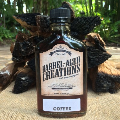 coffee barrel aged maple syrup, 200ml flask,