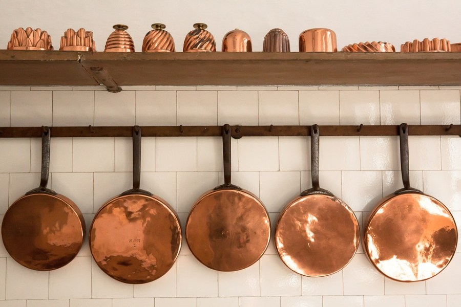 copper kitchen, kitchen inspo, copper pots, kitchen decor, barrel aged creations, pots and pans, kitchenware