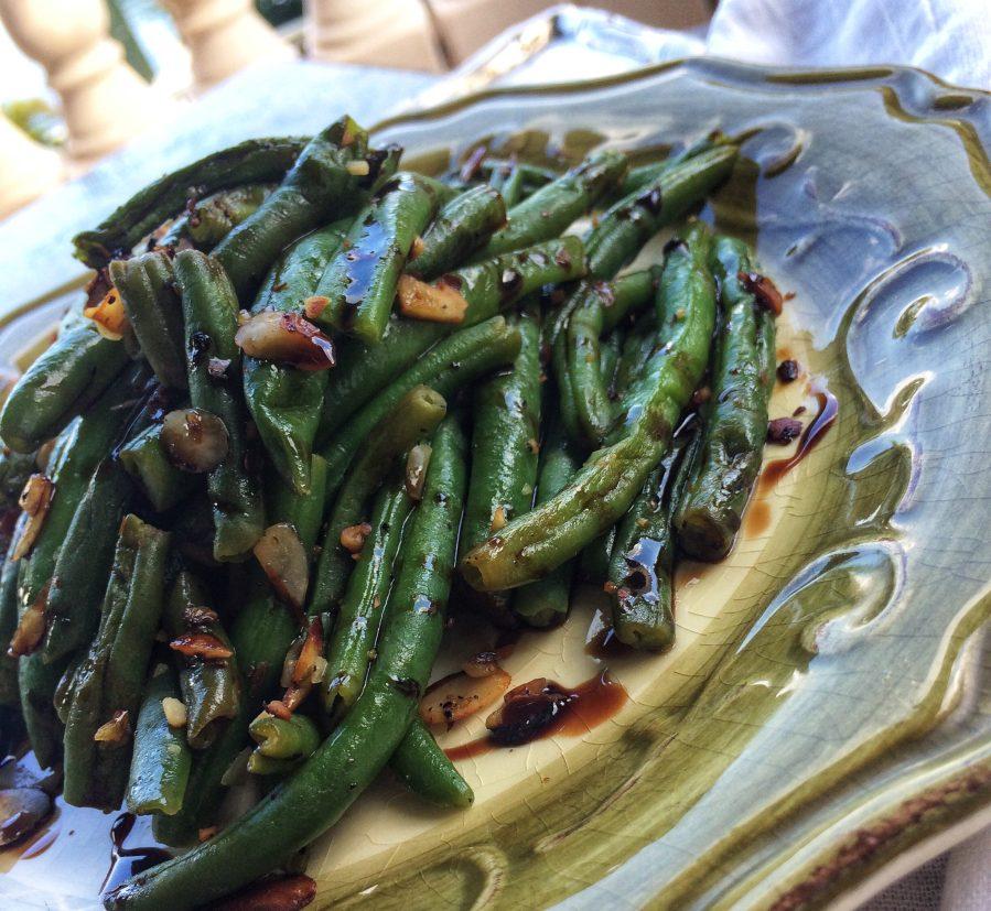 balsamic green beans recipe, barrel aged creations, bourbon balsamic vinegar, green beans with almonds, bean recipe, balsamic vinegar recipe, aged balsamic vinegar, modena vinegar