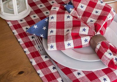 best table decor, barrel aged creations, table runner, 5 things you must have for the best memorial day bbq