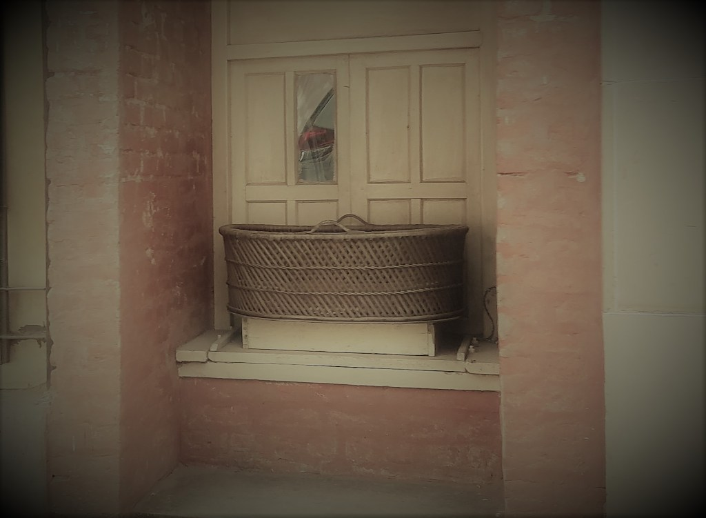 basket outside or