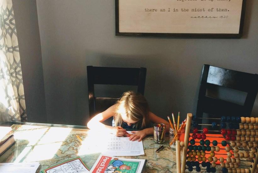 a homeschool girl