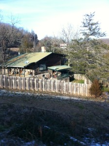 Yes, people still lives in log cabins :)
