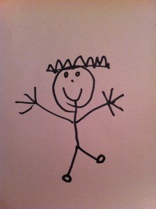 My son's version of a kid wearing a crown!