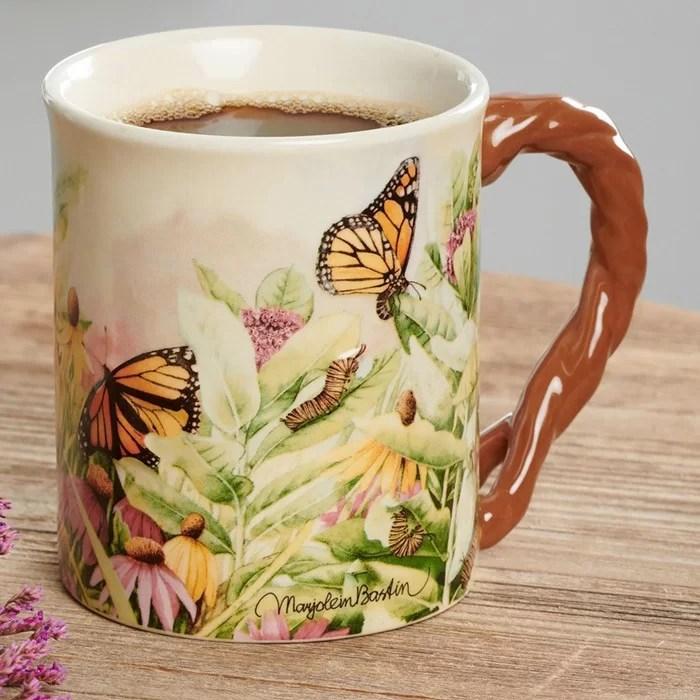 Barrier Bay Resort Collectors Mug - Magic Milkweed and Butterflies