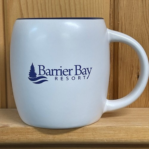 Barrier Bay Resort Blue Mug