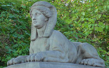 Eine Sphinx in Hamburg Wandsbek