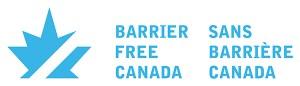 Barrier-Free Canada logo.