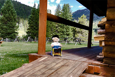 Cherrie checks out a ramp at the 320 Guest Ranch.