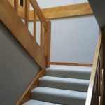 Designer glass door and matching stairs