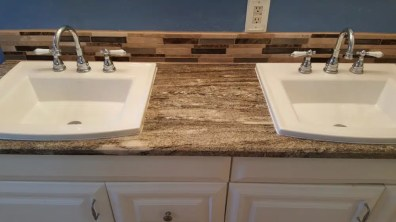 Bathroom sink countertop remodel