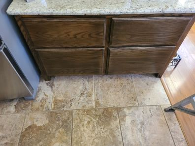 Kitchen cabinet large drawers