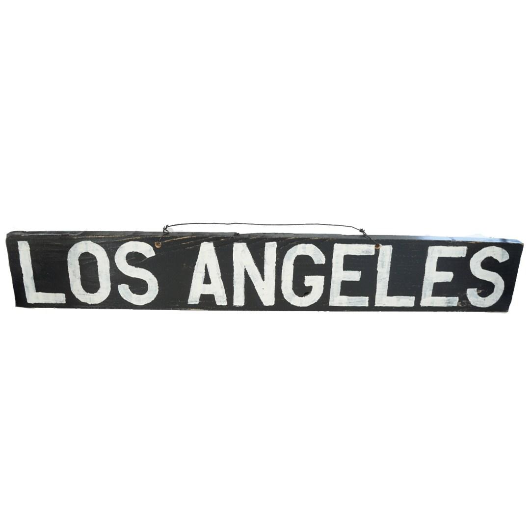 Los Angeles wood sign