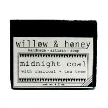 charcoal tea tree bar from Willow & Honey
