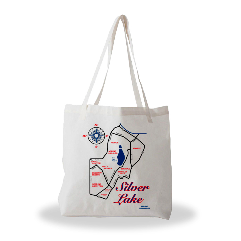 Silver Lake tote bag 6250 Maps