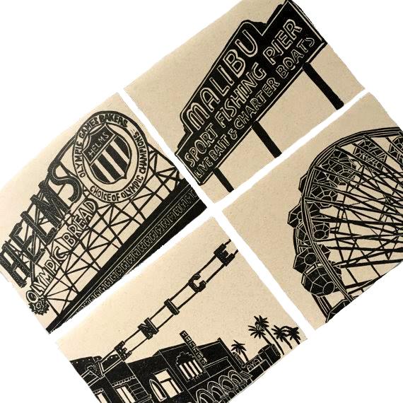 westside LA card set by Ink+Smog Editions