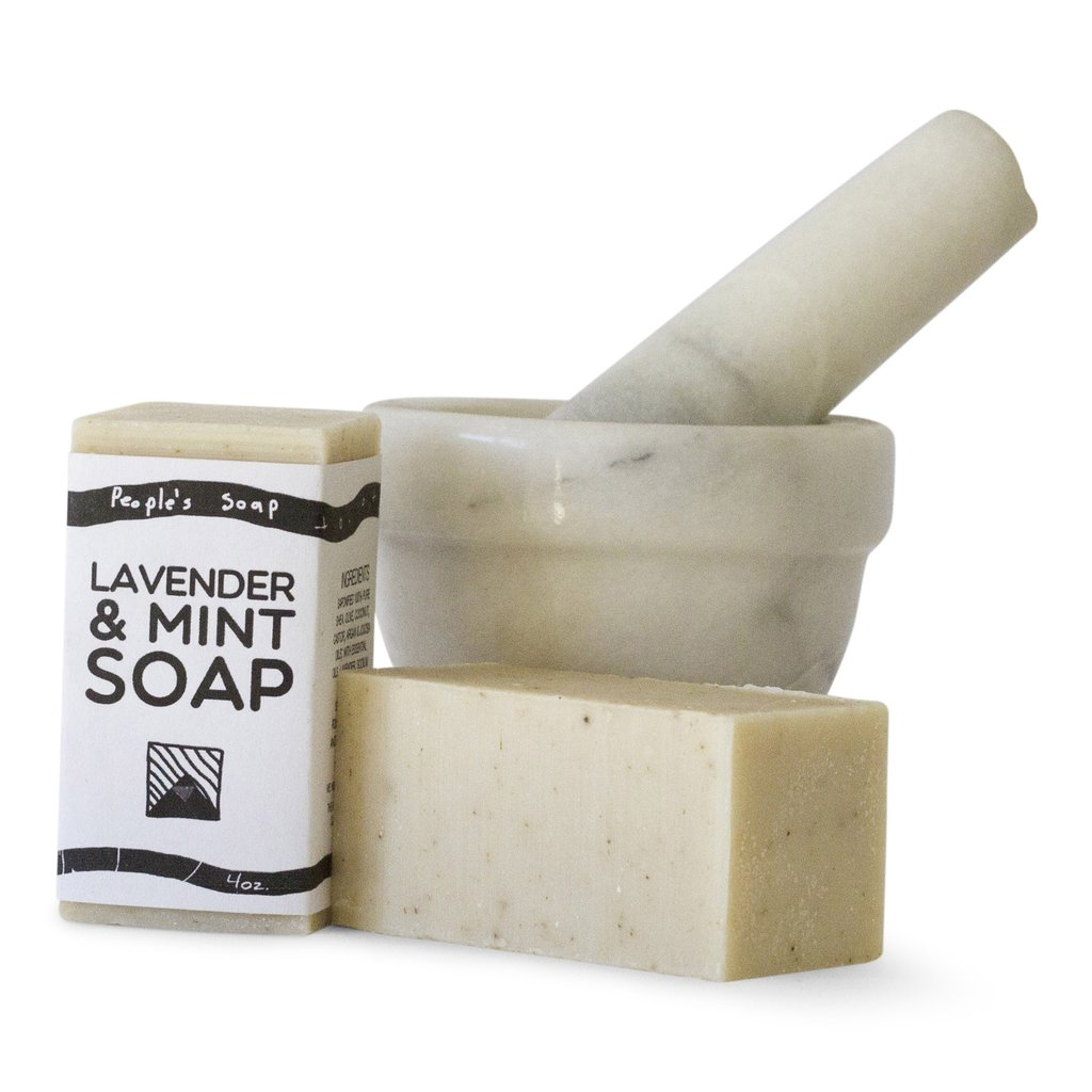 lavender mint soap by The People's Soap Co.