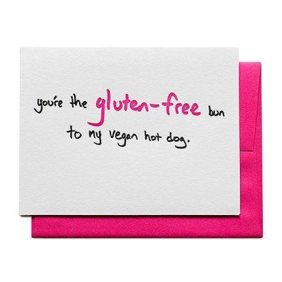 gluten free to vegan greeting card