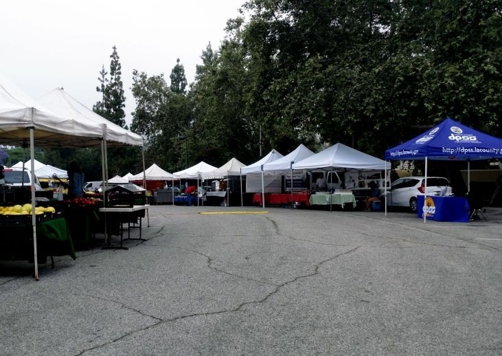 Altadena Farmers Market from the south