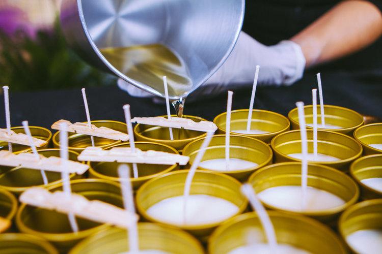 Handmade candles by Lucin