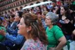 """Josefa Vida Bermúdez, con camisa verde, participa en una manifestación en Córdoba contra los desahucios. """"Es como si no hiciéramos más que pelear"""", dijo. """"duele y te agota."""""""