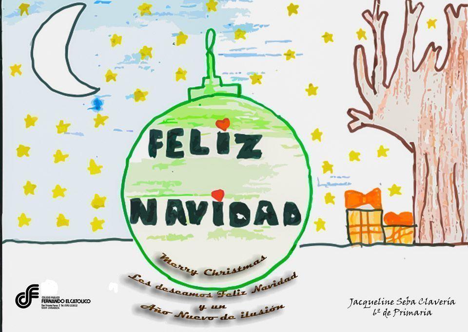 Felicitación de Navidad Colegio Fernando el Católico Barrio Oliver Zaragoza