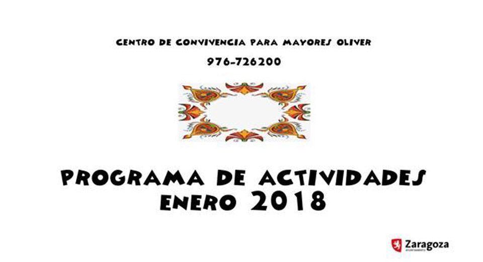 Centro de Mayores: Programa de Actividades Enero 2018
