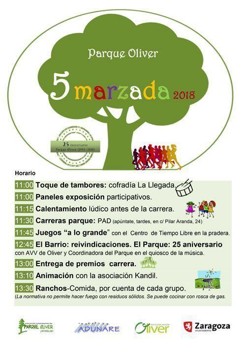Cincomarzada Oliver 2018