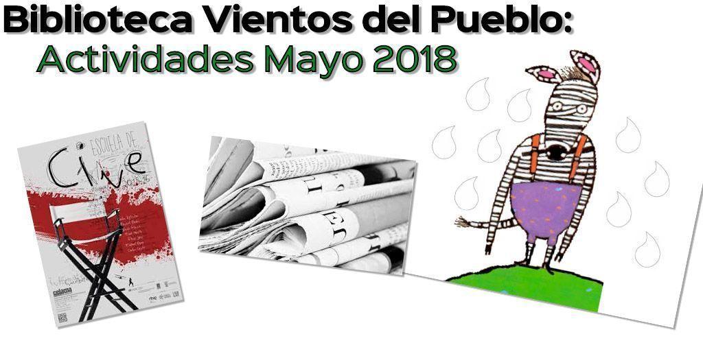 Biblioteca Vientos del Pueblo: Actividades Mayo 2018