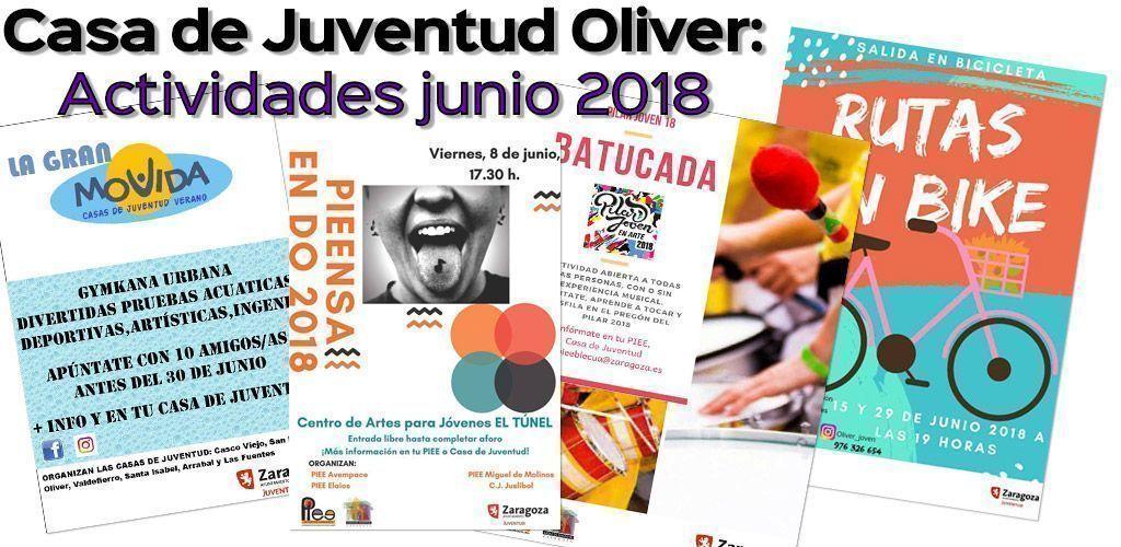 Casa de Juventud Oliver: Actividades de Junio 2018