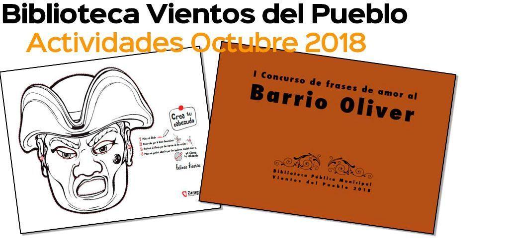 Biblioteca Vientos del Pueblos: Actividades octubre 2018