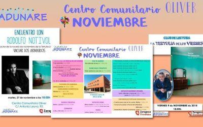 Centro Comunitario Oliver: Actividades Noviembre 2018