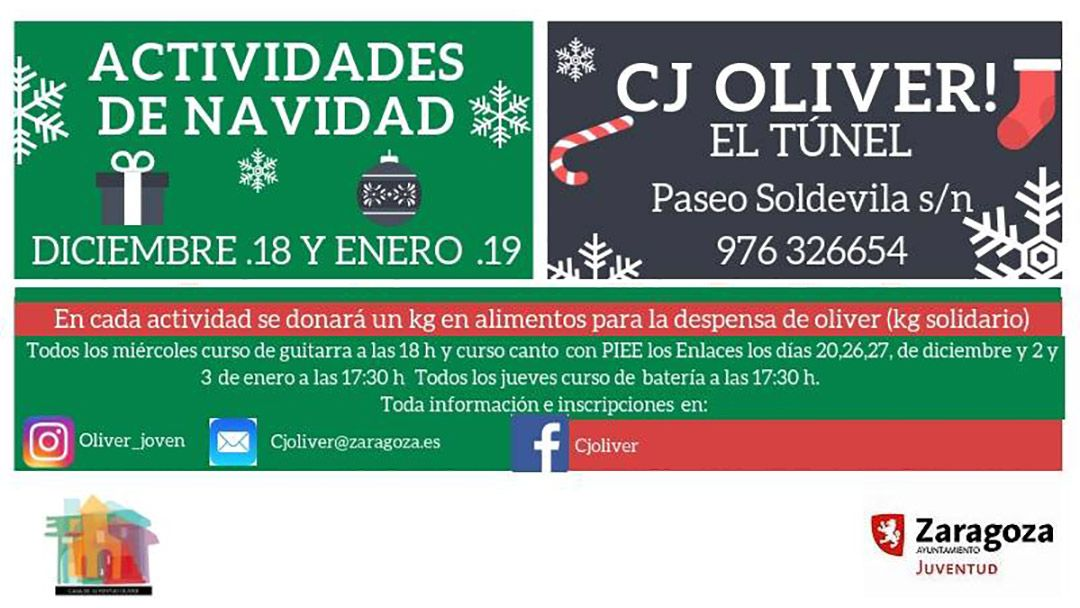 Casa de Juventud Oliver: Actividades navideñas