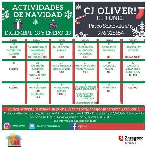 Casa de Juventud Oliver: Actividades Navidad 2018