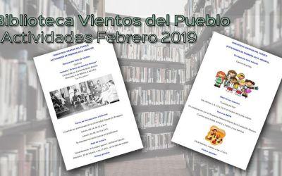 Biblioteca Vientos del Pueblo: Actividades febrero 2019
