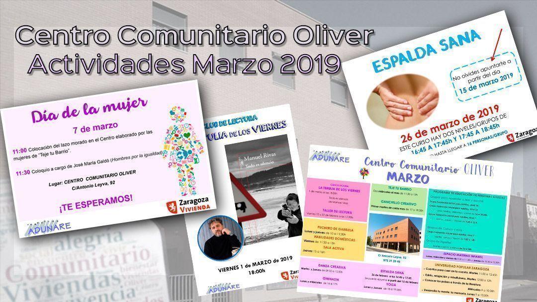 Centro Comunitario Oliver: Actividades marzo 2019