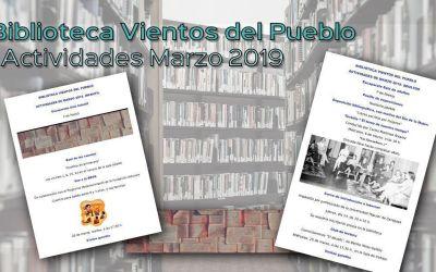 Biblioteca Vientos del Pueblo: Actividades marzo 2019