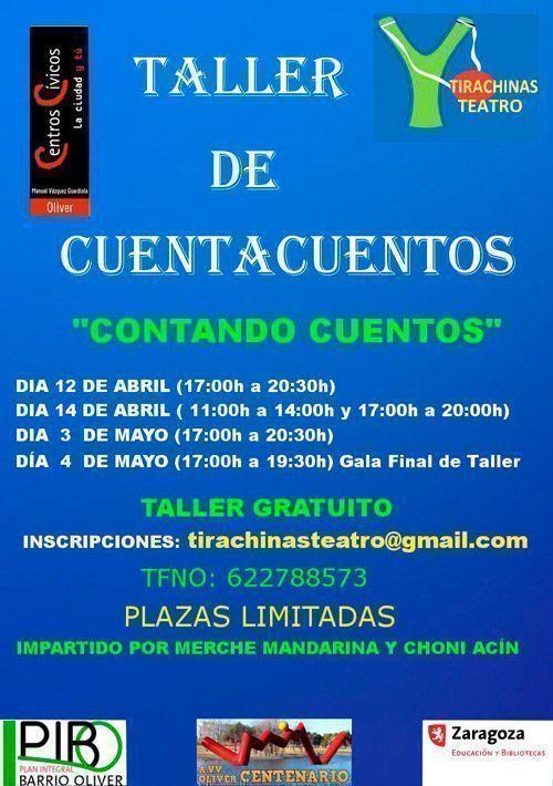 Taller Cuenta Cuentos Centro Cívico Oliver abril 2019
