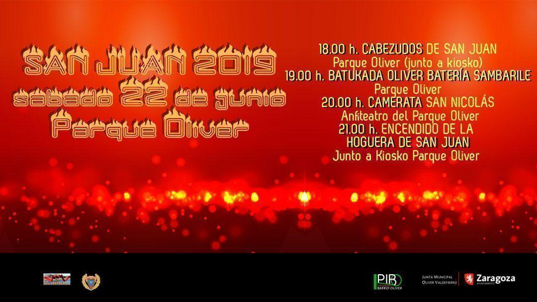 Actividades para San Juan 2019 en Oliver
