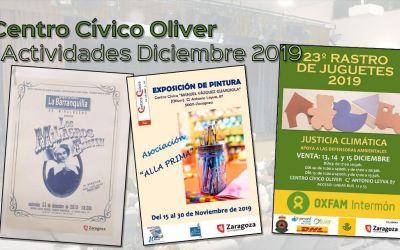 Centro Cívico Oliver: Actividades Diciembre 2019