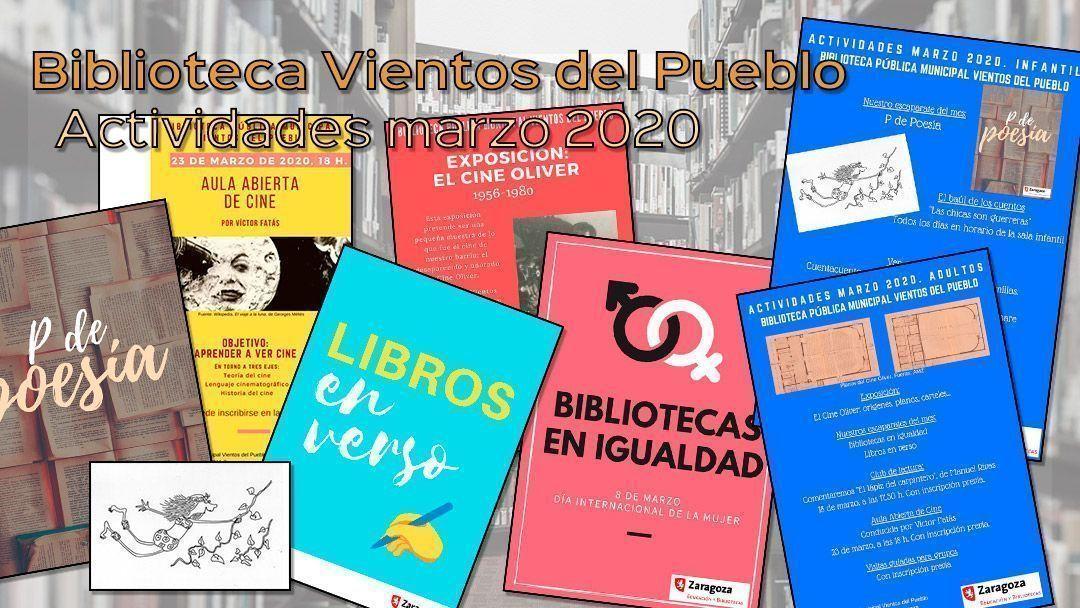 Actividades para marzo 2020 en la Biblioteca Vientos del Pueblo