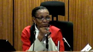 Judge Masipa. Calm and Authoritative