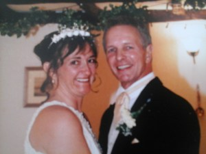 Geoff & Louise Long on their wedding day in 2002