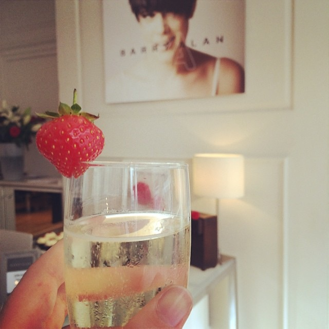 Launch party drink at Blow Dry Bar Norwich