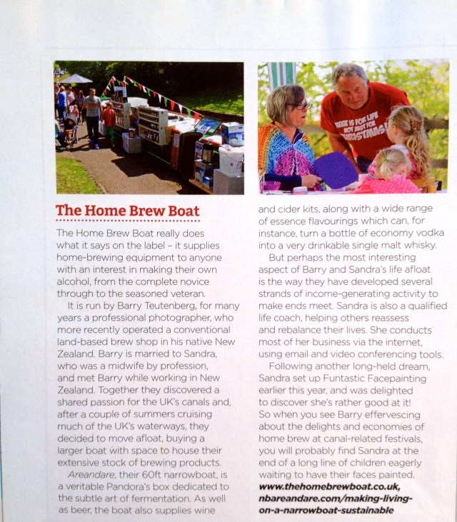Waterways World February 2015 The Home Brew Boat