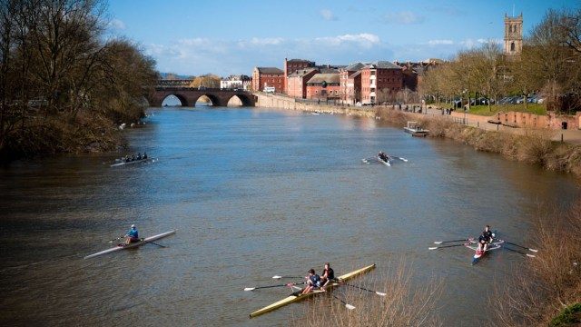 Rowers on the River Severn