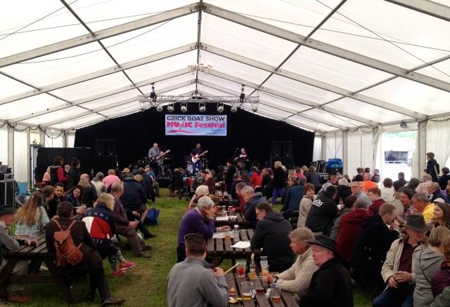 Crick Show beer tent
